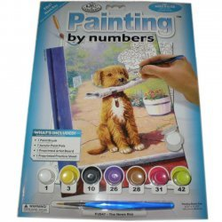Schilderen op Nummer  PJS47 Dagblad Hond  22x29 cm.