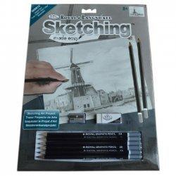 Tekenen - Sketching Made Easy 222 x 288 mm. Oude Windmolen  SKBN10