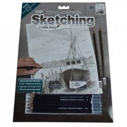 Tekenen - Sketching Made Easy 222 x 288 mm. Vissersboot SKBN2