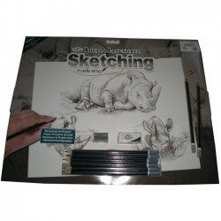 Tekenen - Sketching Made Easy 286 x 390 mm. Neushoorn  SKBNL3