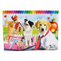 Kleurboek Honden 16 Pagina's met inkleur voorbeeld