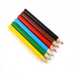Kleurpotloden Mini 6-dlg. 9 cm.