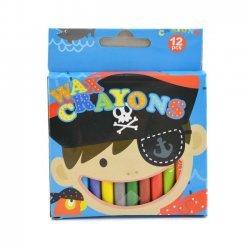 Waskrijtjes 9 cm 12-delig Piraat
