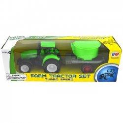 Tractor met aanhangwagen 21cm. ( model 2 )
