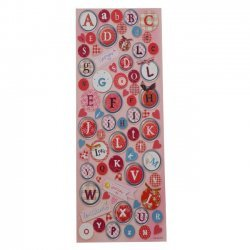 Stickers Alfabet Rood Rose