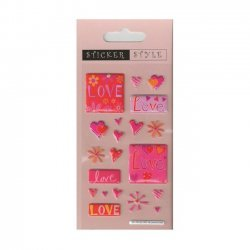 Scrapbooking - Card Making 3D Stickers LOVE