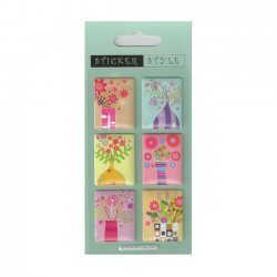 Scrapbooking - Card Making 3D Stickers FLOWERS IN VASES
