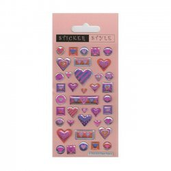 Scrapbooking - Card Making 3D Stickers PINK HEARTS