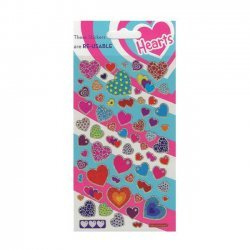 Scrapbooking - Card Making 3D Stickers HAPPY HEARTS