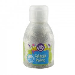 Little Brian Glitterverf 2+ Zilver 150 ml.