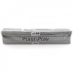 Boetseerklei PlastiPlay 500 gr. GRIJS