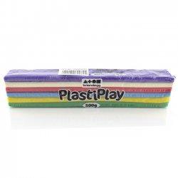 Boetseerklei PlastiPlay 500 gr. REGENBOOG KLEUREN