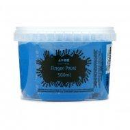 Vingerverf 500 ml. Blauw