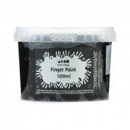 Vingerverf 500 ml. Zwart