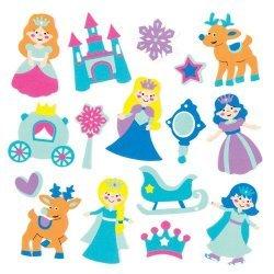 Foam Stickers SNEEUW PRINSES 120-dlg.