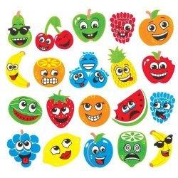 Foam Stickers FRUIT GEZICHTEN  120-dlg.