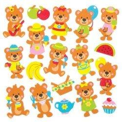 Foam Stickers TEDDYBEER  120-dlg.