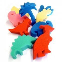 Verf Sponsjes - Stempels Dinosaurus 9-delig